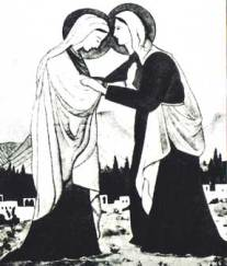 The Visitation sketched by Charles de Foucauld