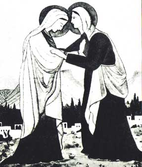 The Visitation sketched by Charles de Foucauld