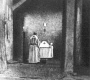 Charles de Foucauld saying Mass