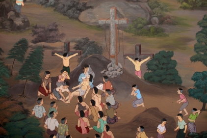 Mural at the Chapel of Father Ray at the Redemptorist Center in Pattaya, Thailand