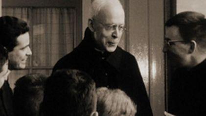 Cardinal Journet with seminarians