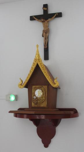 At the chapel of the Redemptoristine community in Bangkok, Thailand