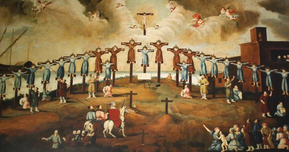 Martyrs of Japan: 17th c. Macanese art