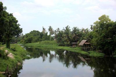 Canal in Sam Phran, Thailand